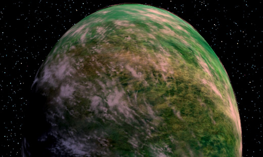 Kashyyyk Viewed From Space